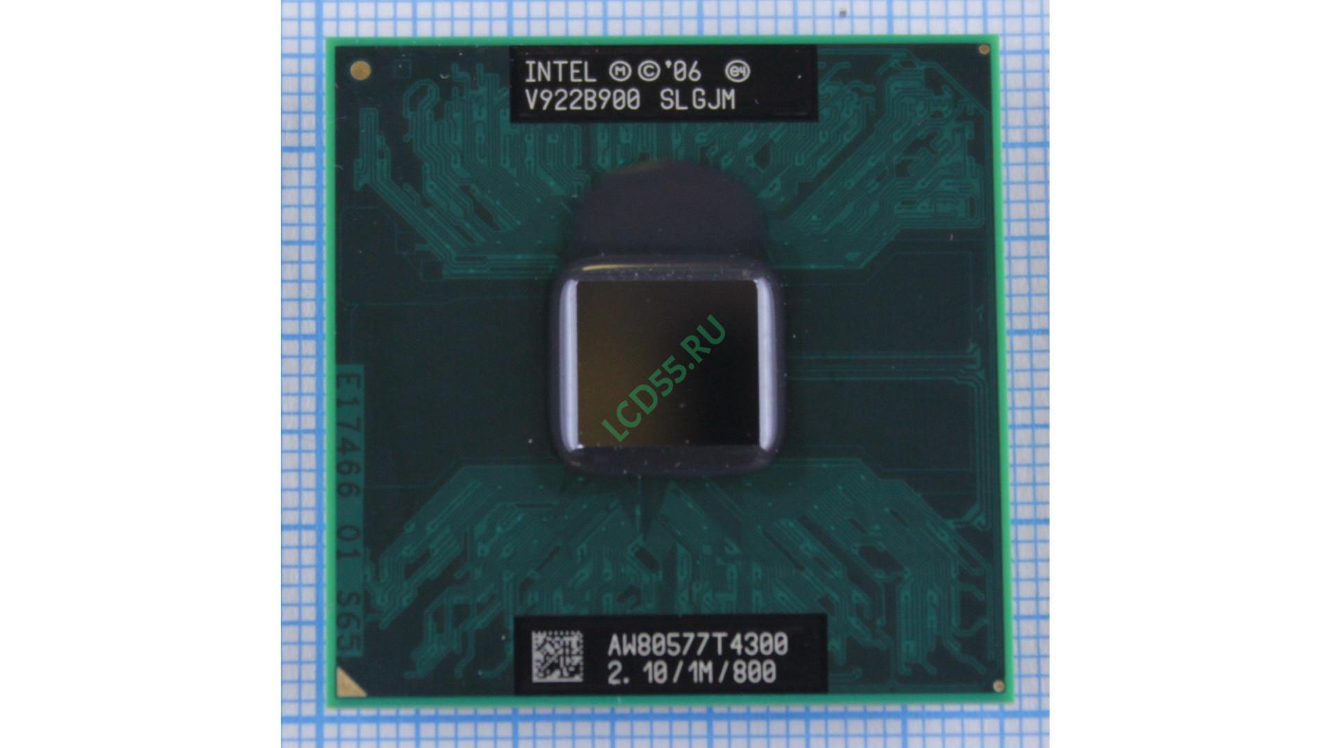 Intel Pentium Dual Core T4300 (SLGJM) 1M Cache, 2.10 GHz, 800