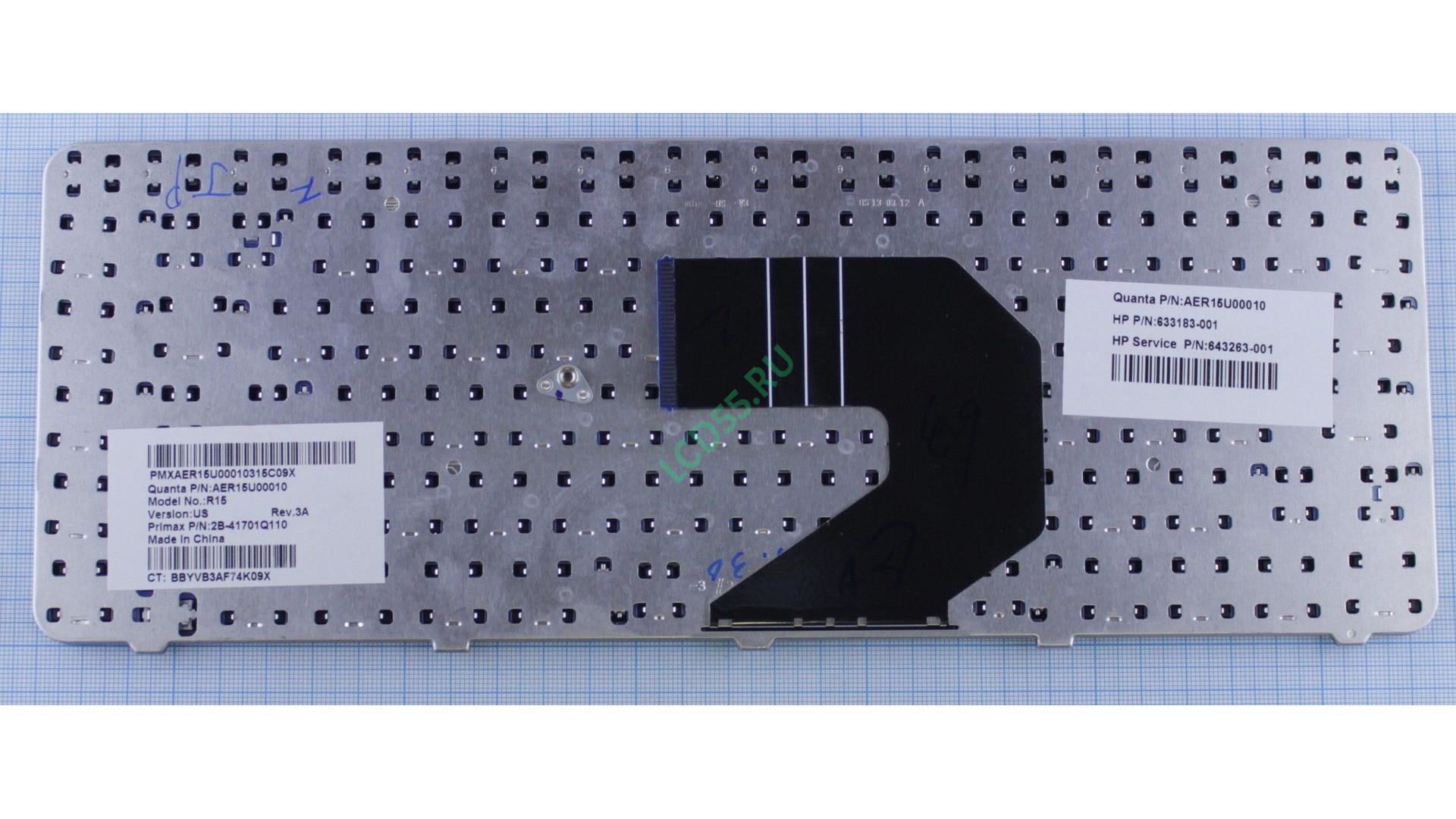 Клавиатура HP Pavilion G4-1000, G6-1000, CQ43, 57, 58, 630, 635, 650, 655 (AER15700010, AER157U0010) (черная)