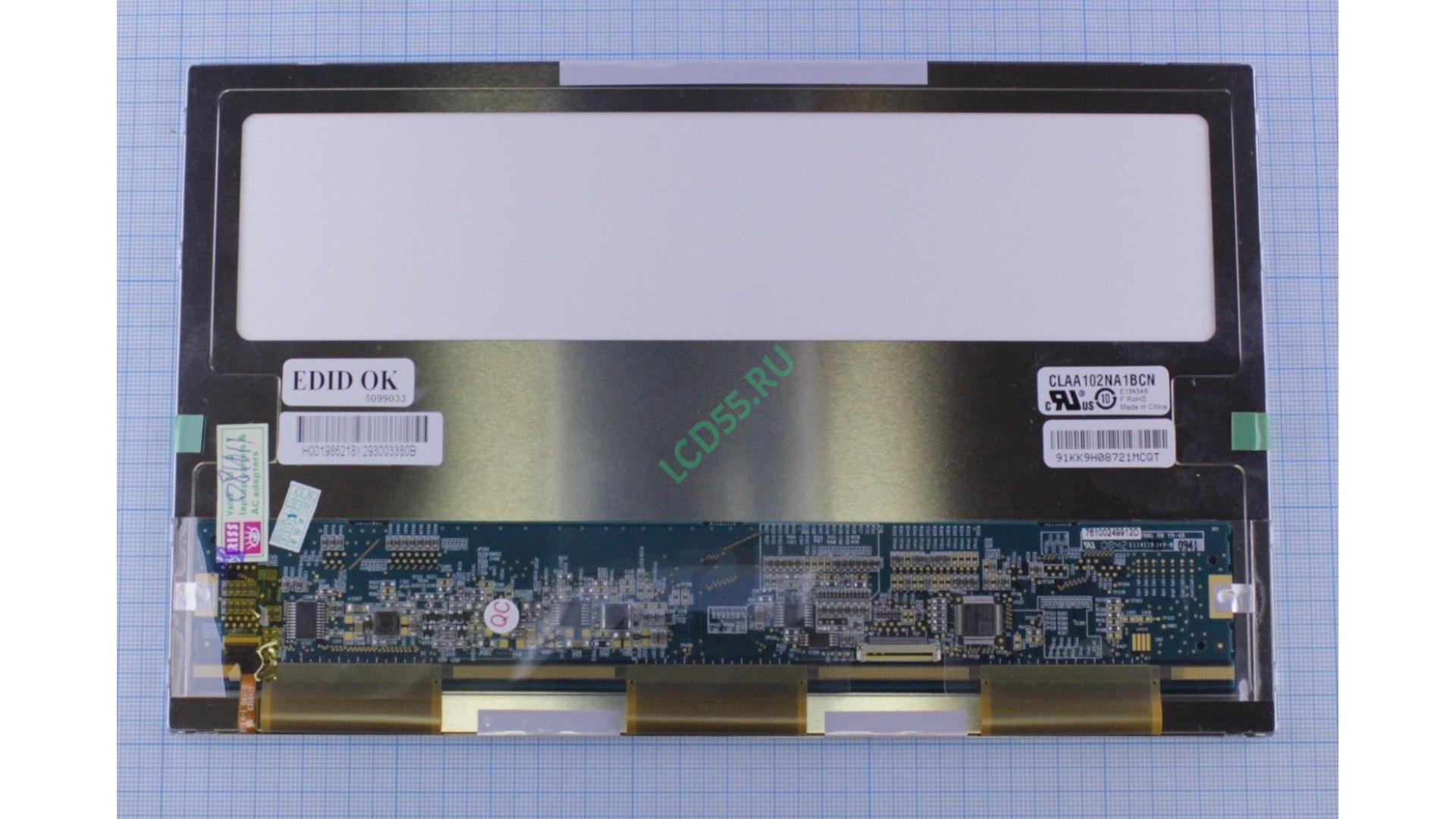 "10.2"" CLAA102NA1BCN WSVGA 1024x600 LED (20 pin rirgt) Matte"