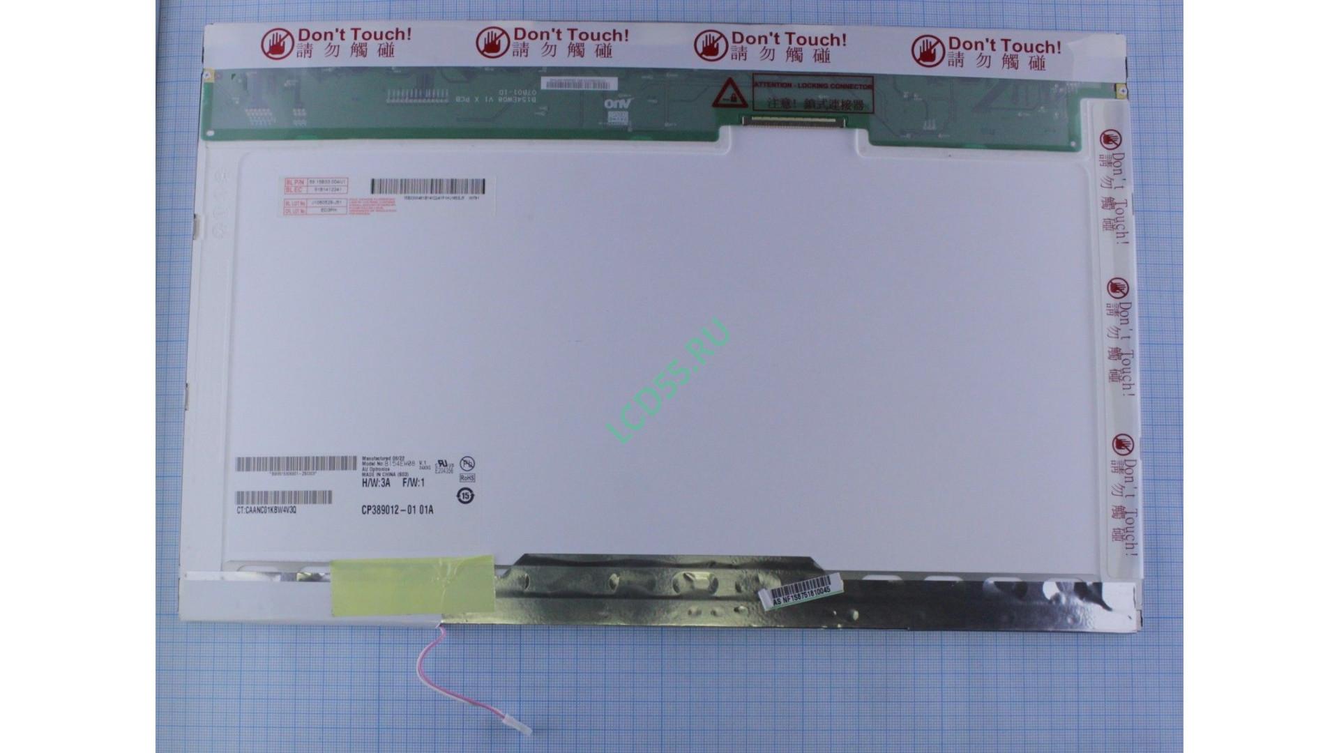 "15.4"" B154EW08 V.1 WXGA 1280x800 1 CCLF 30 pin Glossy"