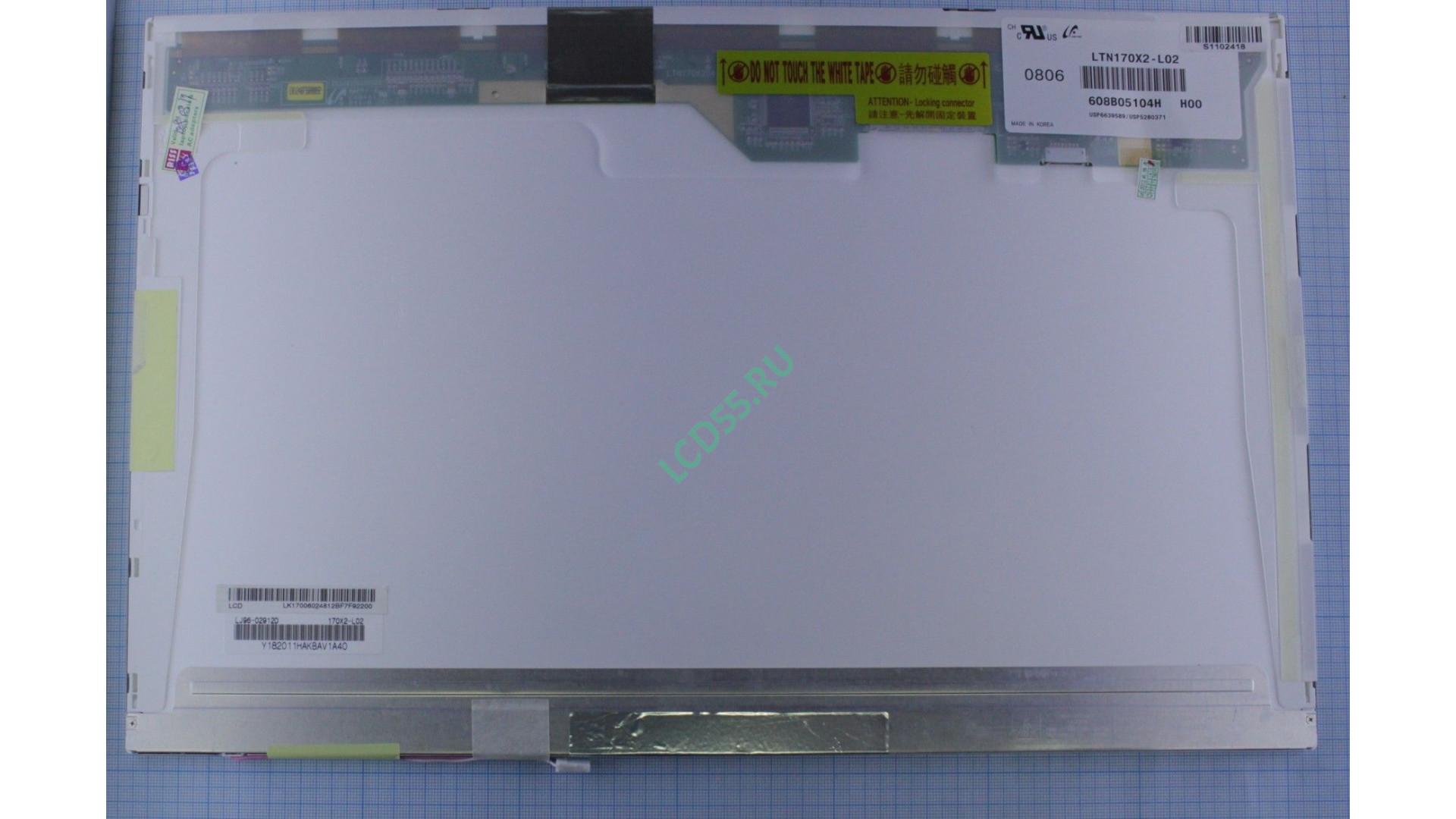 """17.0"""" LTN170X2-L02 WXGA+ 1440x900 30pin 1 CCFL Glossy б/у"""