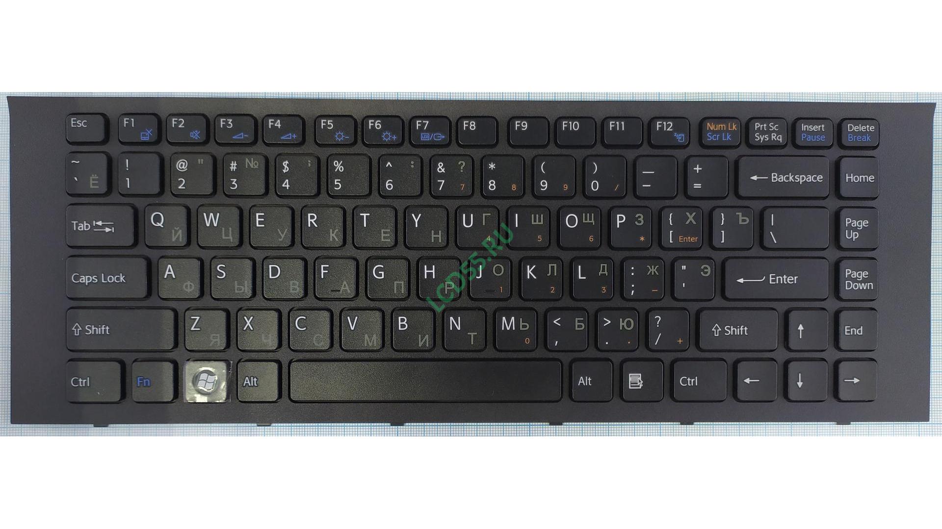 Клавиатура Sony Vaio VPC-EG series (чёрная)