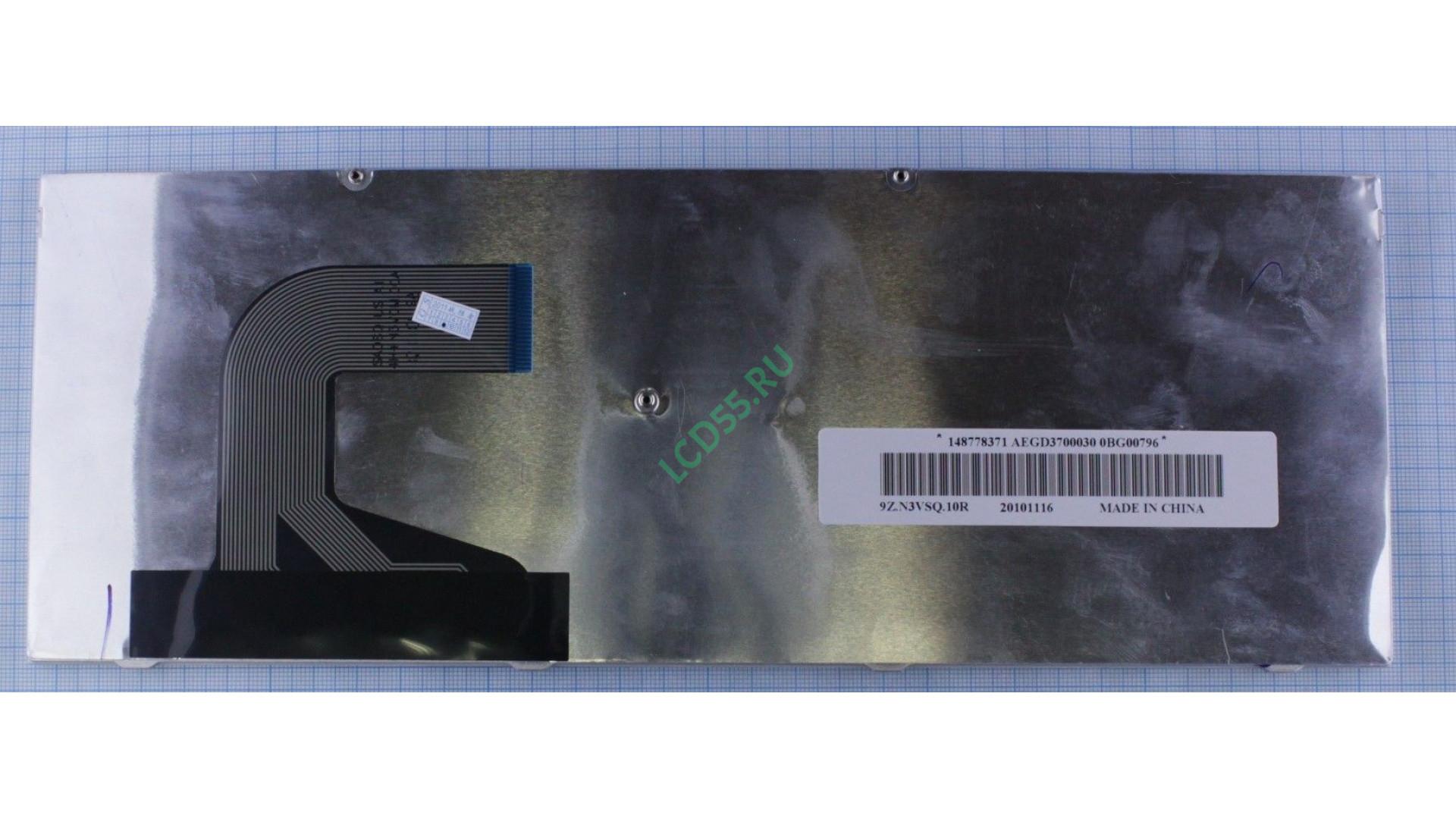 Клавиатура Sony vaio VPC-S series (серебристая, чёрные кнопки)