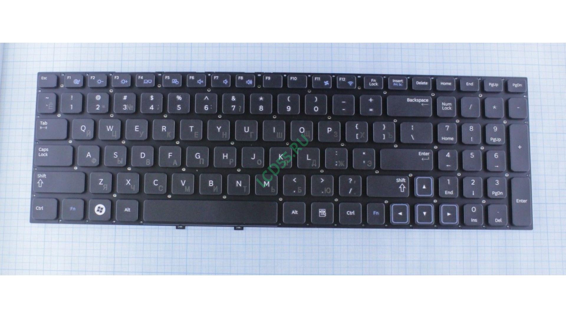 Клавиатура Samsung NP300E5A, NP300V5A (черная)