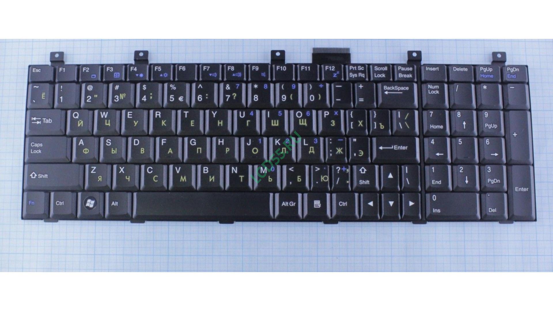 Клавиатура MSI CX500, CX600, CX605, CX700, EX620, EX630, VR610, VX600 (черная)
