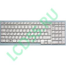 Клавиатура Toshiba Satellite A500, F501, P505, L350, L500, P300, X500, F60, F750 (серебристая)