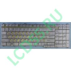 Клавиатура Toshiba Satellite A500, F501, P505, L350, L500, P300, X500, F60(серебристая) с разбора